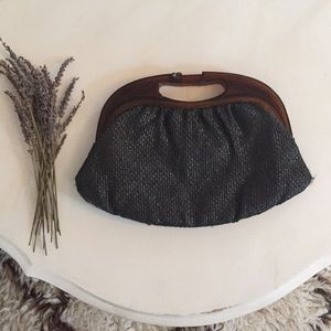 Handbags - Vintage Straw Hand Purse